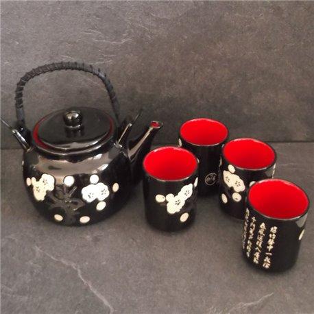 Coffret Théière avec 4 tasses