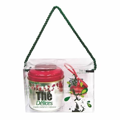 Boîte alimentaire en inox avec infuseur assorti