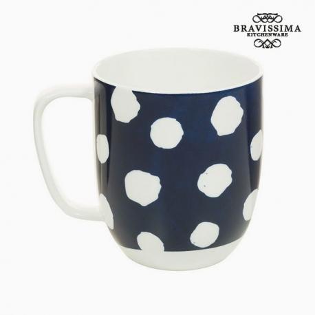 Tasse Porcelaine Taupes Blanc - Collection Kitchen's Deco by Bravissima Kitchen