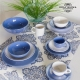 Ensemble de jarres Vaisselle Blanc Bleu (6 pcs) - Collection Kitchen's Deco by Bravissima Kitchen