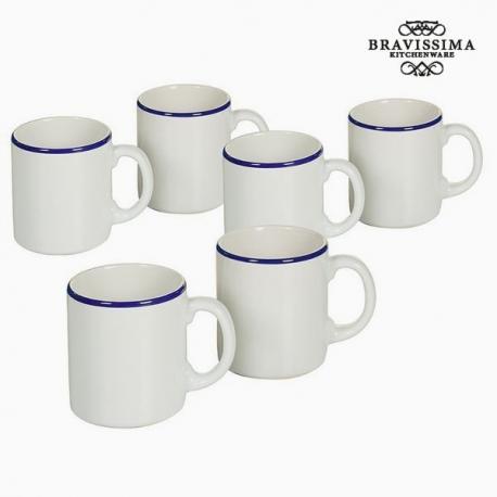 Ensemble de jarres Vaisselle Blanc Blue marine (6 pcs) - Collection Kitchen's Deco by Bravissima Kitchen