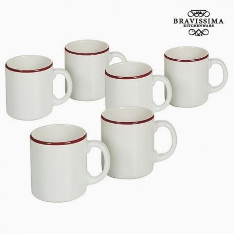 Ensemble de jarres Vaisselle Blanc Bordeaux (6 pcs) - Collection Kitchen's Deco by Bravissima Kitchen