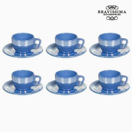 Ensemble de thé Vaisselle Bleu (12 pcs) - Collection Kitchen's Deco by Bravissima Kitchen