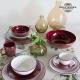 Ensemble de jarres Vaisselle Bordeaux (6 pcs) - Collection Kitchen's Deco by Bravissima Kitchen