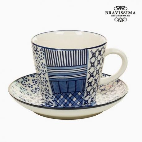 Tasse avec sous-tasse Porcelaine Imprimé - Collection Kitchen's Deco by Bravissima Kitchen
