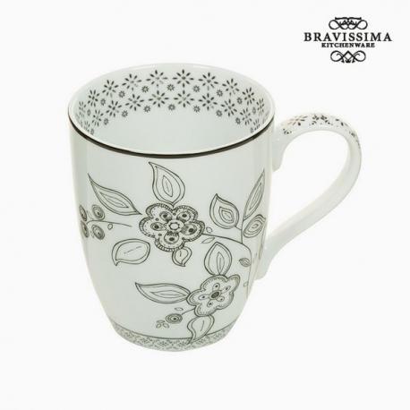 Tasse Porcelaine Fleurs - Collection Kitchen's Deco by Bravissima Kitchen