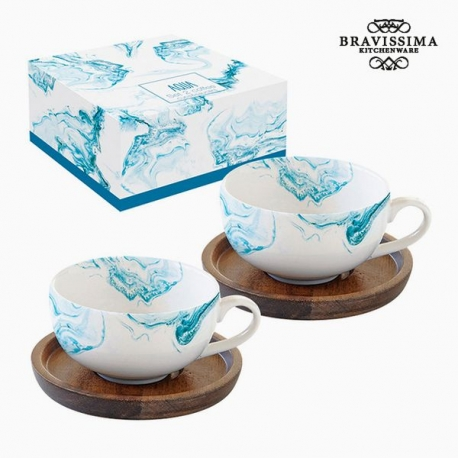 Jeu de 2 tasses avec plat Porcelaine by Bravissima Kitchen