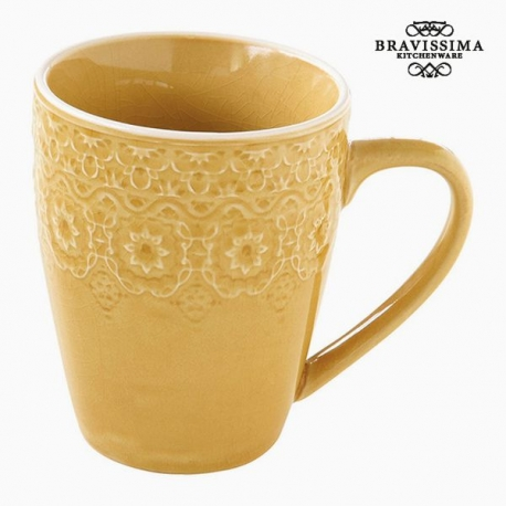 Tasse Porcelaine Jaune by Bravissima Kitchen