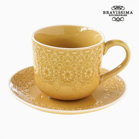 Tasse à infusion Porcelaine Jaune by Bravissima Kitchen
