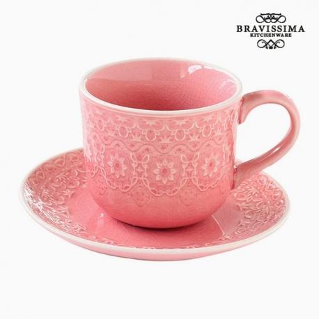 Tasse à infusion Porcelaine Corail by Bravissima Kitchen