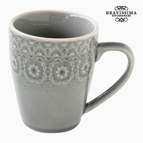 Tasse Porcelaine Gris by Bravissima Kitchen