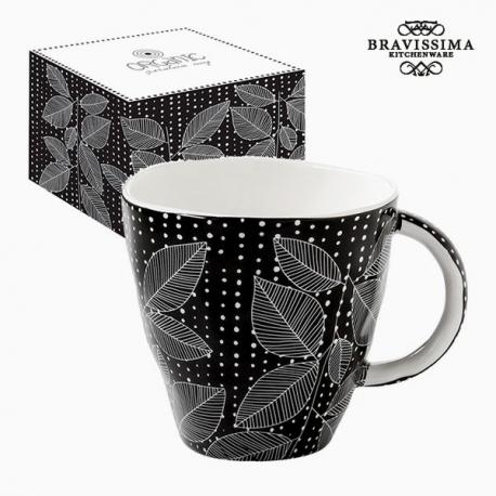 Tasse avec boîte Porcelaine Noir by Bravissima Kitchen