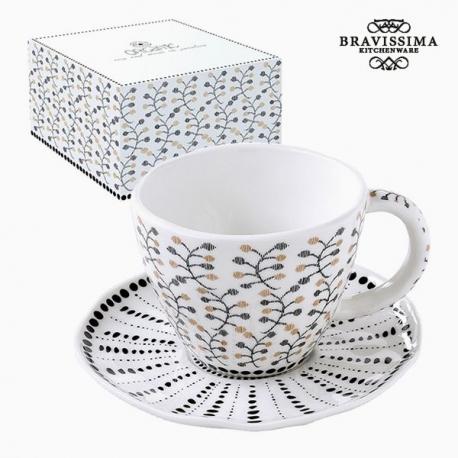 Tasse à infusion Porcelaine Fleurs by Bravissima Kitchen