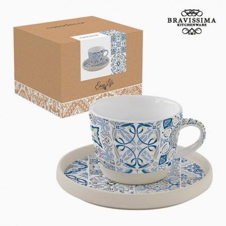 Tasse avec sous-tasse Porcelaine Mosaïque by Bravissima Kitchen