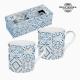 Lot de tasses Porcelaine Bleu (2 pcs) by Bravissima Kitchen