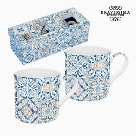 Lot de tasses Porcelaine Bleu (2 pcs) by Bravissima Kitchen