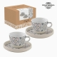 Lot de tasses Porcelaine Gris (2 pcs) by Bravissima Kitchen