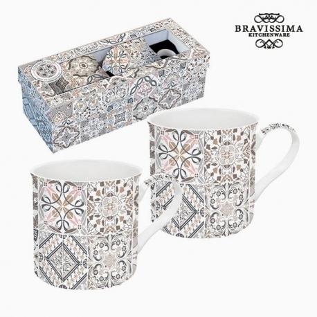 Lot de tasses Porcelaine Gris (2 pcs) by Bravissima Kitchen
