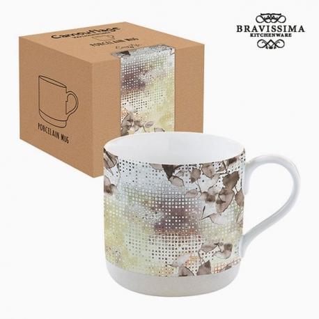 Tasse avec boîte Porcelaine Camouflage Marron by Bravissima Kitchen