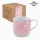 Tasse avec boîte Porcelaine Mosaïque Rose by Bravissima Kitchen