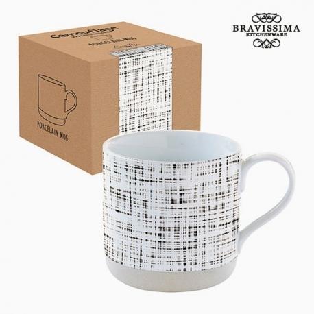 Tasse avec boîte Porcelaine Rayures by Bravissima Kitchen