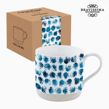 Tasse avec boîte Porcelaine Camouflage Bleu by Bravissima Kitchen