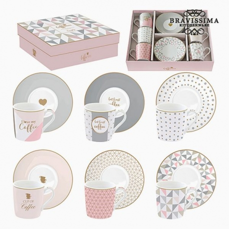 Lot de tasses Porcelaine Rose (6 pcs) by Bravissima Kitchen
