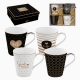 Lot de tasses Porcelaine (4 pcs) by Bravissima Kitchen