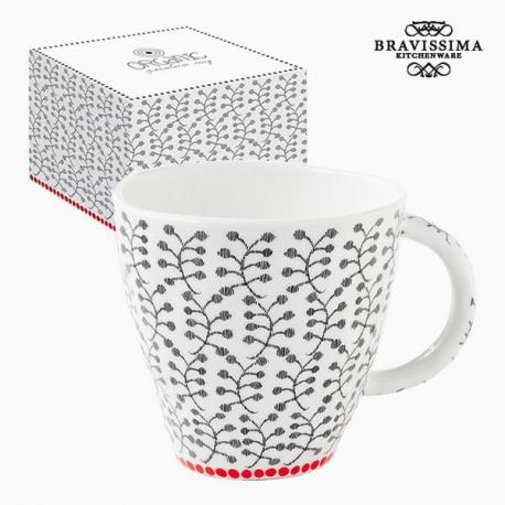 Tasse avec boîte Porcelaine Fleurs by Bravissima Kitchen