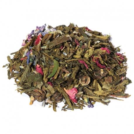 Thé vert fleuri